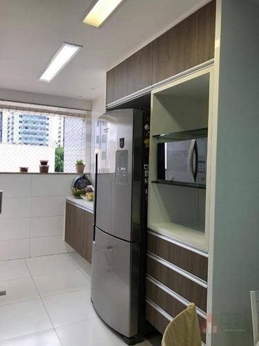 apartamento com 4 dormitórios à venda, 140m² por r$ 1.100.000 - madalena - beira rio - ap1039