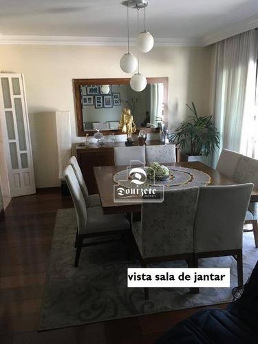 apartamento com 4 dormitórios à venda, 180 m² por r$ 1.000.000 - vila caminho do mar - são bernardo do campo/sp - ap11555