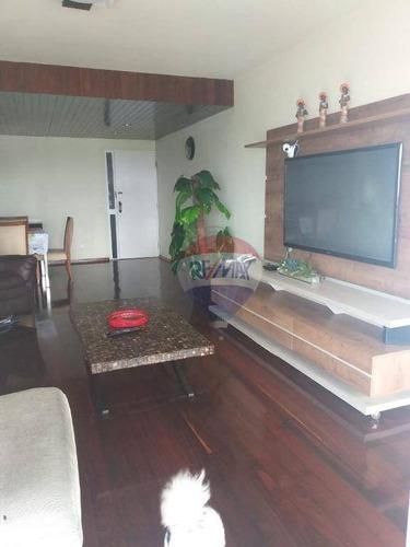 apartamento com 4 dormitórios à venda, 185 m² por r$ 530.000,00 - espinheiro - recife/pe - ap0956