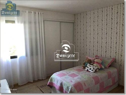 apartamento com 4 dormitórios à venda, 188 m² por r$ 789.000,00 - vila bastos - santo andré/sp - ap5144