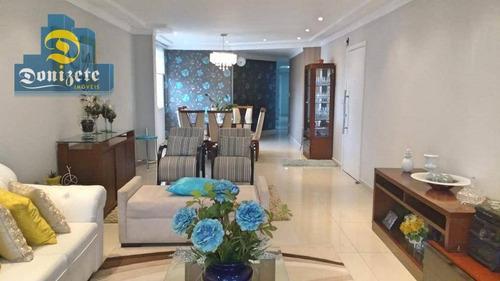 apartamento com 4 dormitórios à venda, 198 m² por r$ 1.100.000 - barcelona - são caetano do sul/sp - ap10189