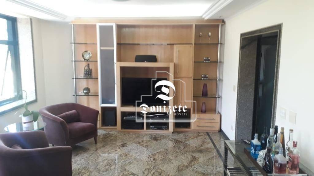 apartamento com 4 dormitórios à venda, 202 m² por r$ 1.060.000,00 - jardim - santo andré/sp - ap12619