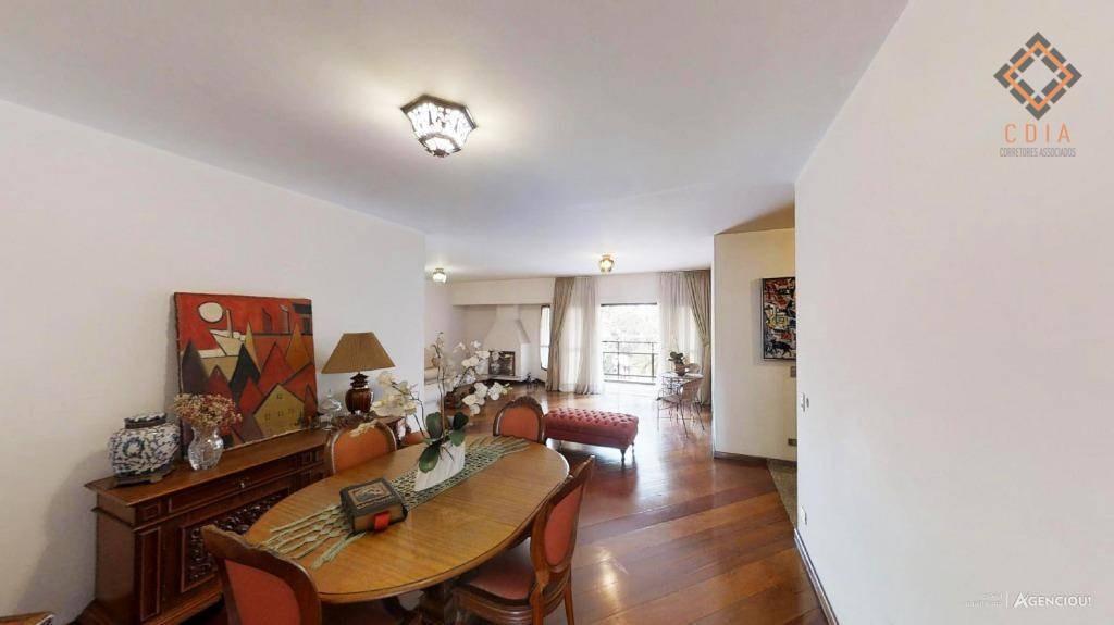 apartamento com 4 dormitórios à venda, 216 m² por r$ 1.490.000 - moema - são paulo/sp - ap42454