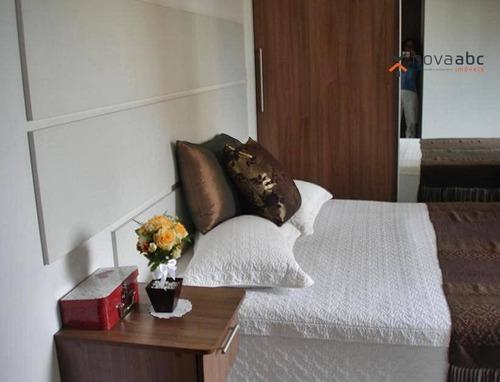 apartamento com 4 dormitórios à venda, 217 m² por r$ 1.500.000 - vila bastos - santo andré/sp - ap0820