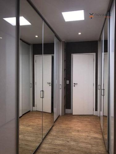 apartamento com 4 dormitórios à venda, 236 m² por r$ 2.400.000 - vila gilda - santo andré/sp - ap0839