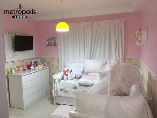 apartamento com 4 dormitórios à venda, 242 m² por r$ 1.700.000,00 - santo antônio - são caetano do sul/sp - ap1688