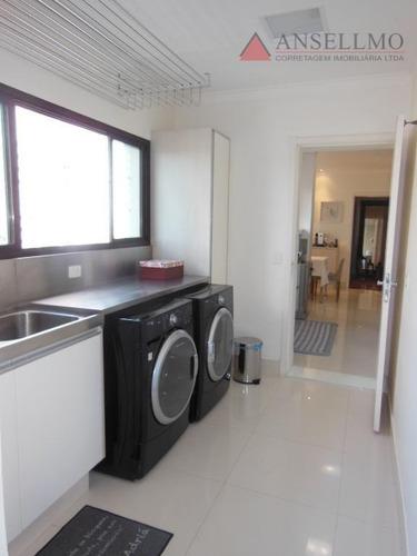 apartamento com 4 dormitórios à venda, 268 m² por r$ 1.450.000,00 - centro - são bernardo do campo/sp - ap1126