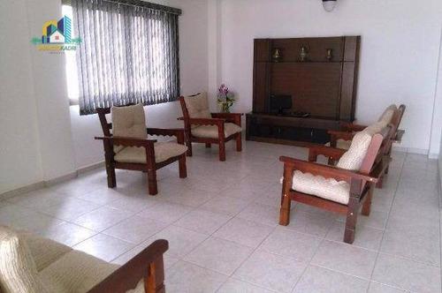 apartamento com 4 dormitórios à venda, 300 m² por r$ 600.000 - campo da aviação - praia grande/sp - co0101
