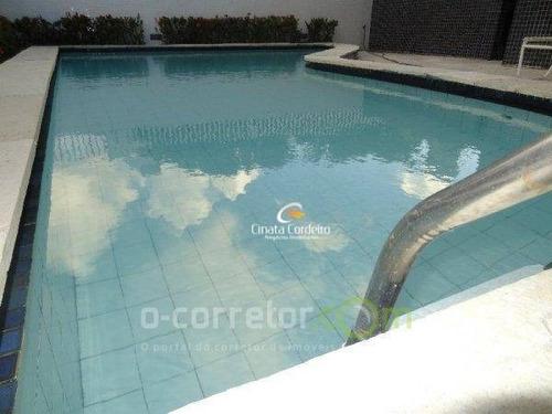 apartamento com 4 dormitórios à venda, 300 m² por r$ 950.000 - cabo branco - joão pessoa/pb - ap0477