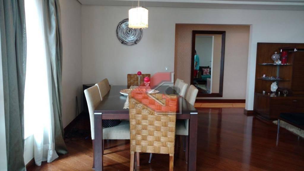 apartamento com 4 dormitórios à venda, 308 m² por r$ 1.800.000 - centro - são bernardo do campo/sp - ap0006