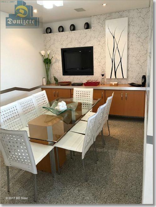 apartamento com 4 dormitórios à venda, 330 m² por r$ 2.700.000,00 - jardim - santo andré/sp - ap0011