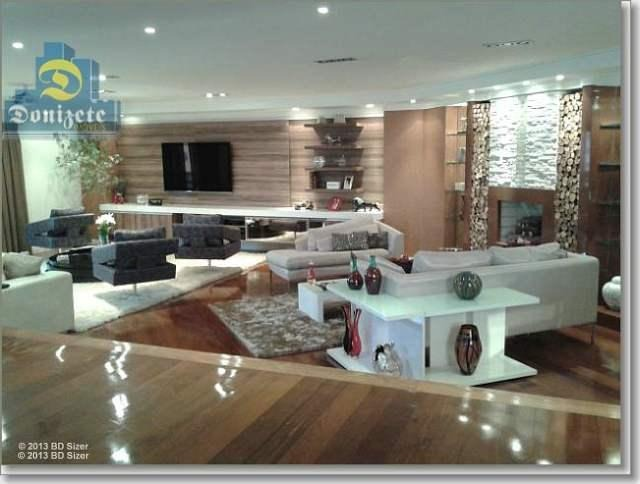 apartamento com 4 dormitórios à venda, 435 m² por r$ 2.400.000,00 - jardim - santo andré/sp - ap3771