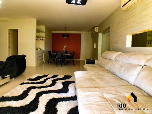 apartamento com 4 quartos à venda, 150 m² por r$ 1.200.000 - barra da tijuca - rio de janeiro/rj - ap1196