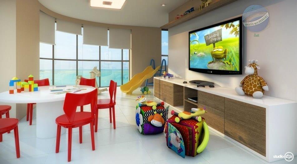 apartamento com 4 suítes, beira mar na praia de areia preta - porto atlântico - ap0007