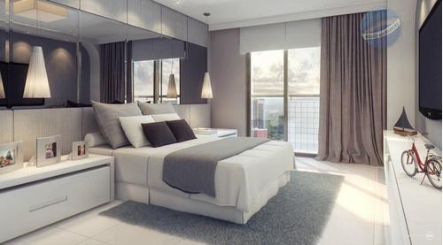 apartamento com 4 suítes, em lagoa nova - edifício firenze - ap0048