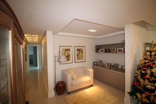 apartamento com 6 suítes e 5 vagas de garagem (imobiliado).