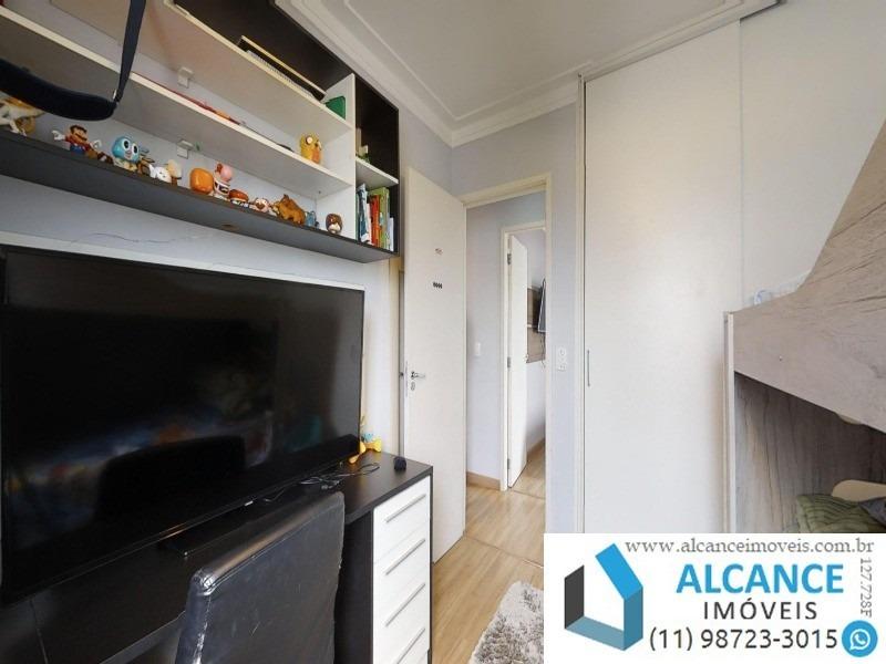 apartamento com 72,66 m² com 3 dormitórios, 2 banheiros e 2 vagas à vendas no residencial arboré jaguaré - ap00417 - 34723548