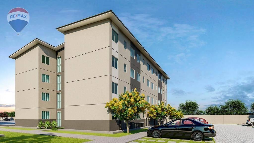 apartamento com área de lazer completa em caucaia - ap0281