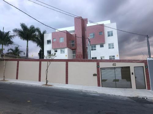 apartamento com área privativa, 2 quartos, 2 vagas. bairro santa branca,região da pampulha. - 2396