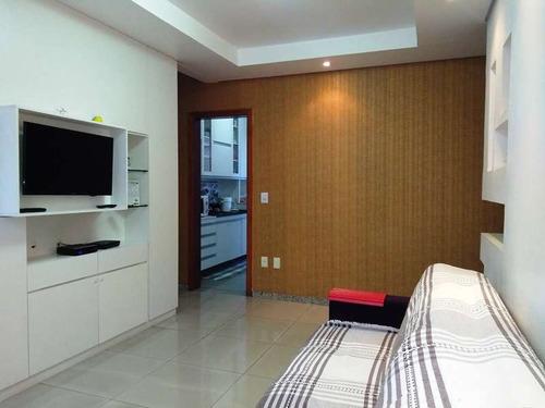 apartamento com área privativa. santa branca, 3 quartos 1 suite, closet, montado e decorado - 2364