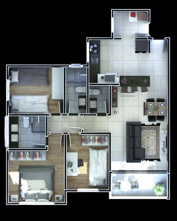 apartamento com elevador,  03 quartos, 02 vagas de garagem no bairro sagrada família!!! - mun2779