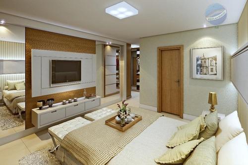 apartamento com  em petrópolis, natal., com 4 suítes e 222m² - ap0090