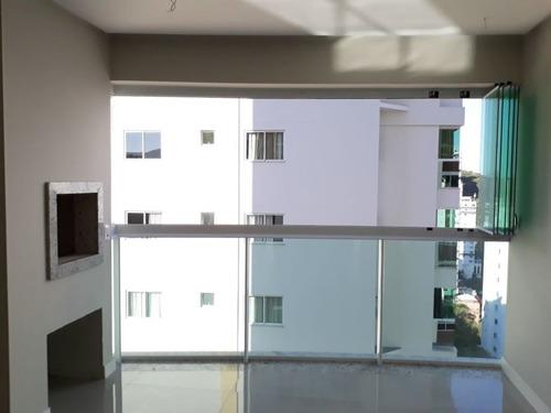 apartamento com linda vista para a mata atlântica, para a cidade e para o mar, bairro pioneiros - 252-im335417