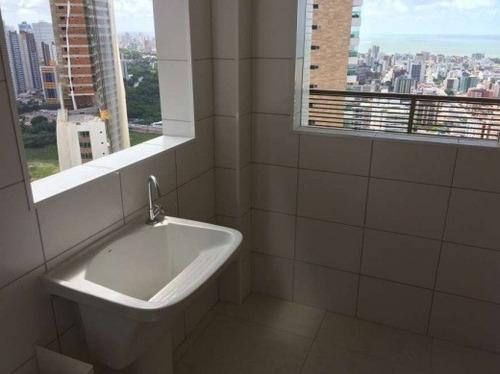 apartamento com parque aquático na área  de lazer alap-02