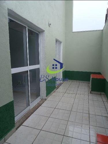 apartamento com quintal e cobertura na vila pires - 5402