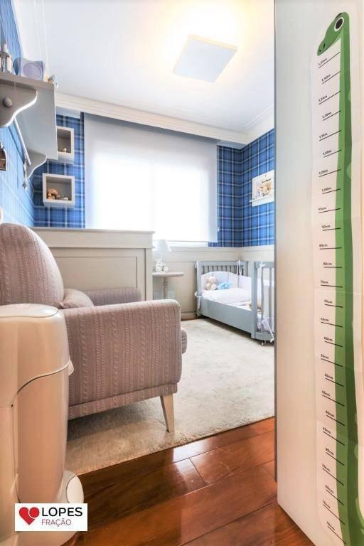 apartamento com varanda gourmet e ar condicionado no tatuapé - ap1844