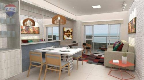 apartamento com vista mar na praia do cumbuco - ap0125