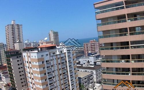 apartamento com vista para o mar na tupi em praia grande