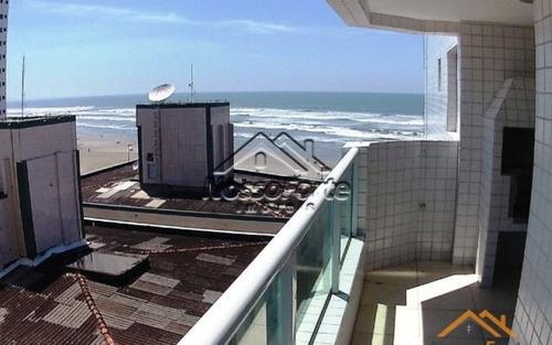 apartamento com vista para o mar no caiçara em praia grande