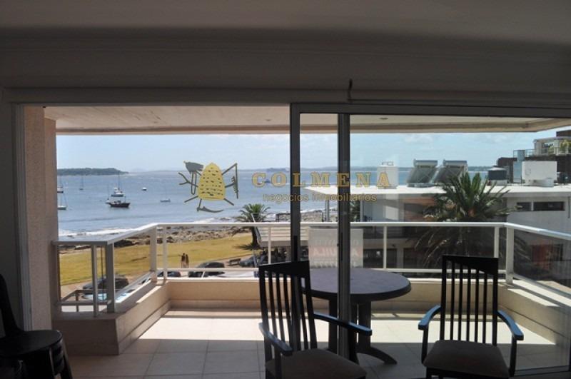 apartamento con vista plena al puerto de 3 dor mas dependencia y con churrasquera. consulte!!!!!!-ref:1553