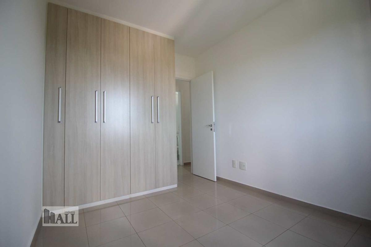 apartamento cond. bosque da vivendas, 104m², 2vgs, -  rio preto - v4678