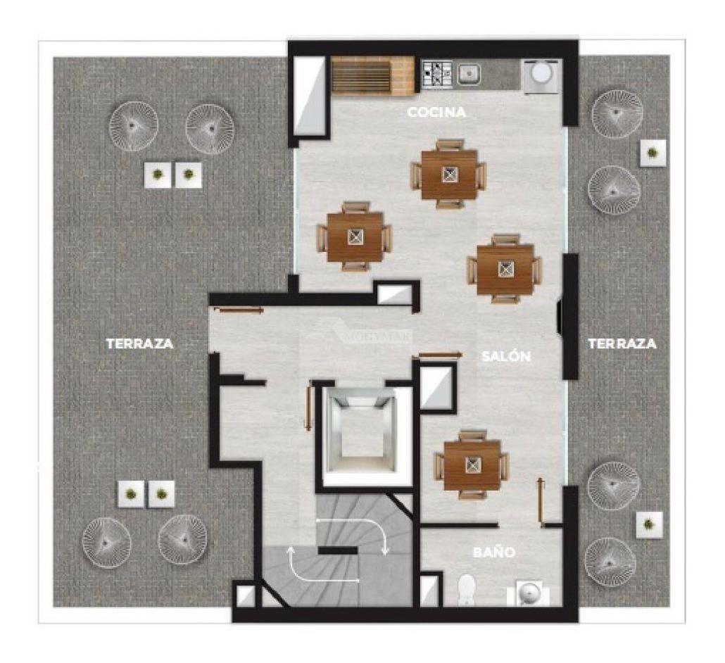 apartamento cordon venta 1 dormitorio gaboto y rodó, edificio tempo gaboto