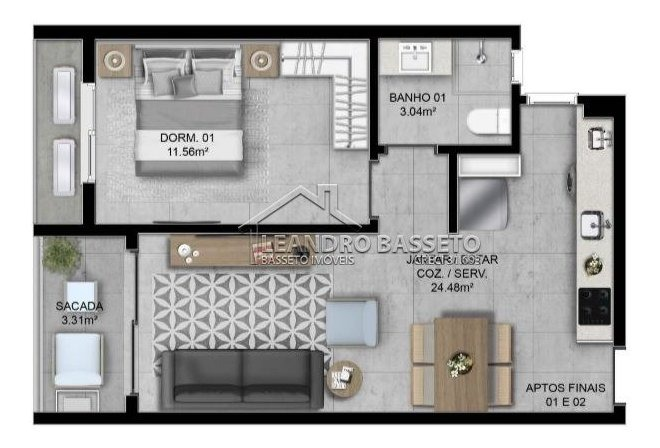 apartamento - corrego grande - ref: 2294 - v-2294