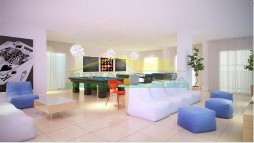 apartamento de 02 dormitórios sendo 01 suíte e sacada gourmet na cidade ocian em praia grande - mp9540