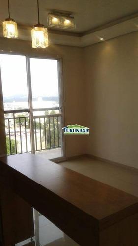 apartamento de 02 dormitórios   vila augusta  50m² - ap2169