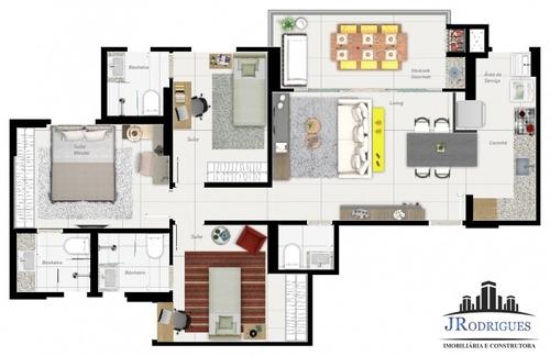 apartamento de 03 quartos no parque amazônia - pronto - 449