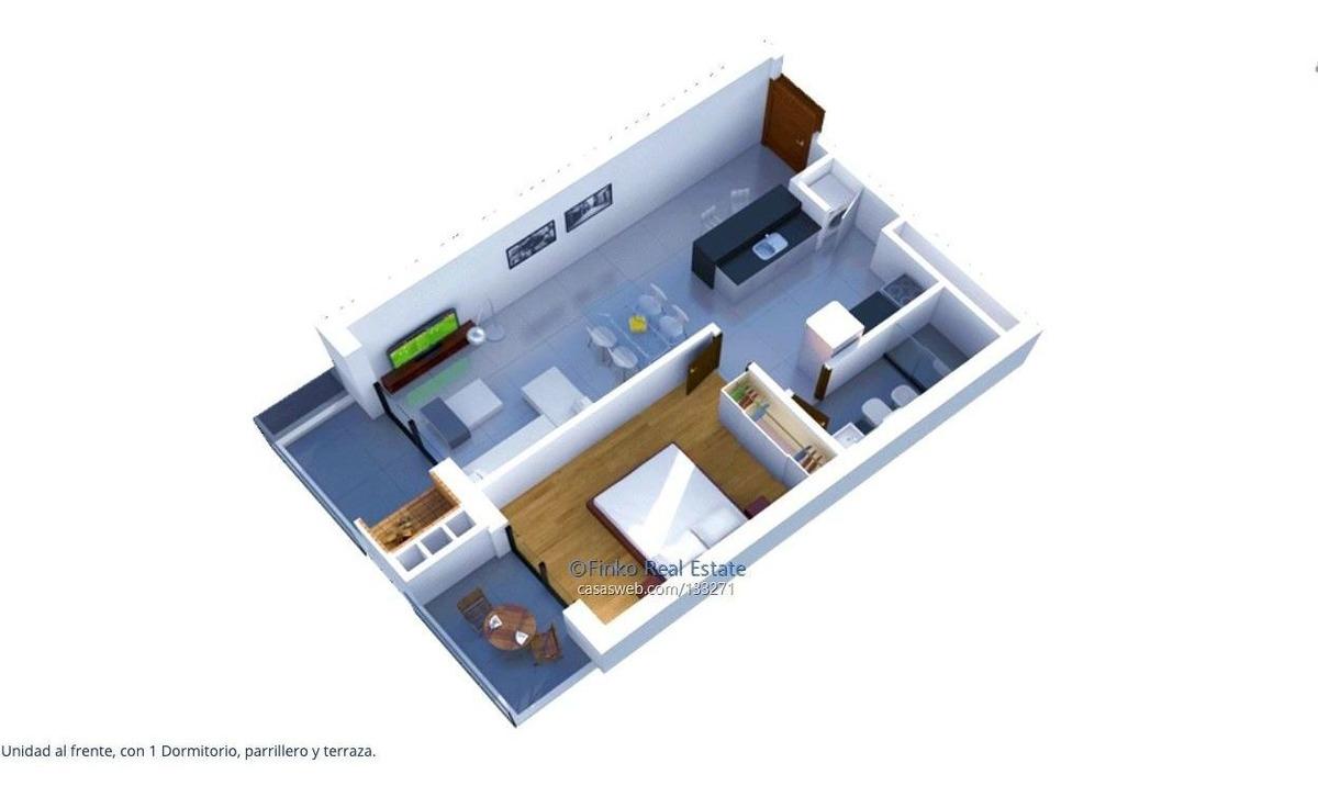 apartamento de 1 dormirio en malvin
