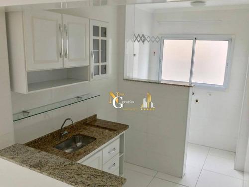 apartamento de 1 dormitório alto padrao, lazer completíssimo a 3 quadras da praia - ap2099