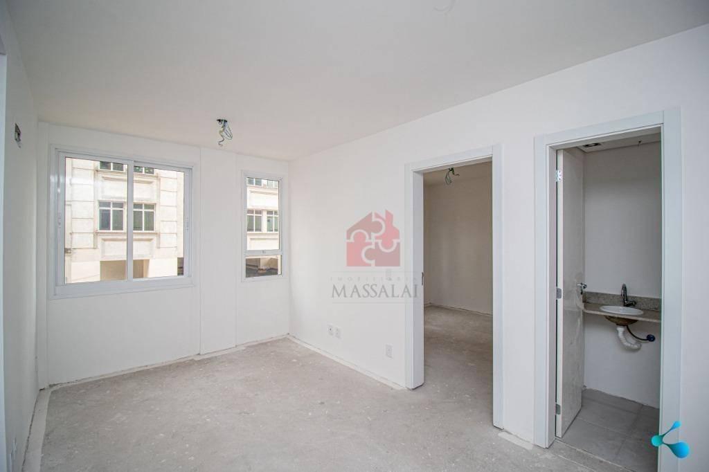 apartamento de 1 dormitório  com garagem à venda, 44 m² por r$ 368.000 - menino deus - porto alegre/rs - ap2325