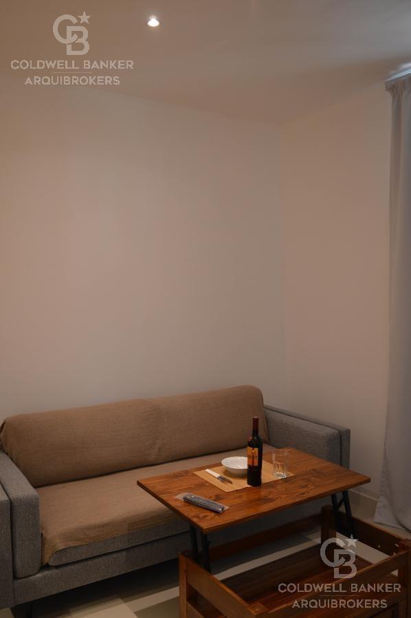 apartamento de 1 dormitorio en alquiler con muebles en pocitos