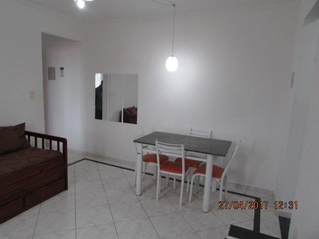 apartamento de 1 dormitório lado praia mobiliado