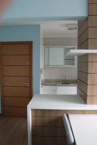 apartamento de 1 dormitório mobiliado para locação, alto da glória, curitiba. - ap0524