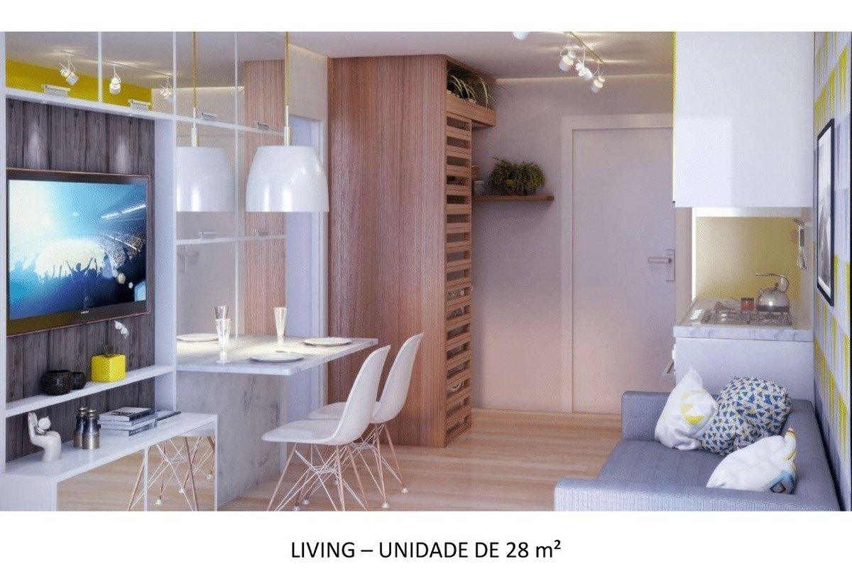 apartamento de 1 e 2 dormitórios