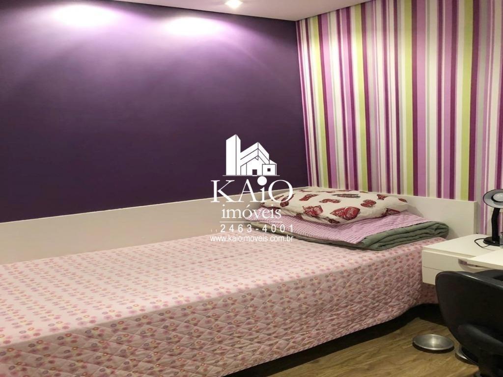 apartamento de 132m² com 3 suites varanda gourmet 2 vagas, jardim zaira - ap1200