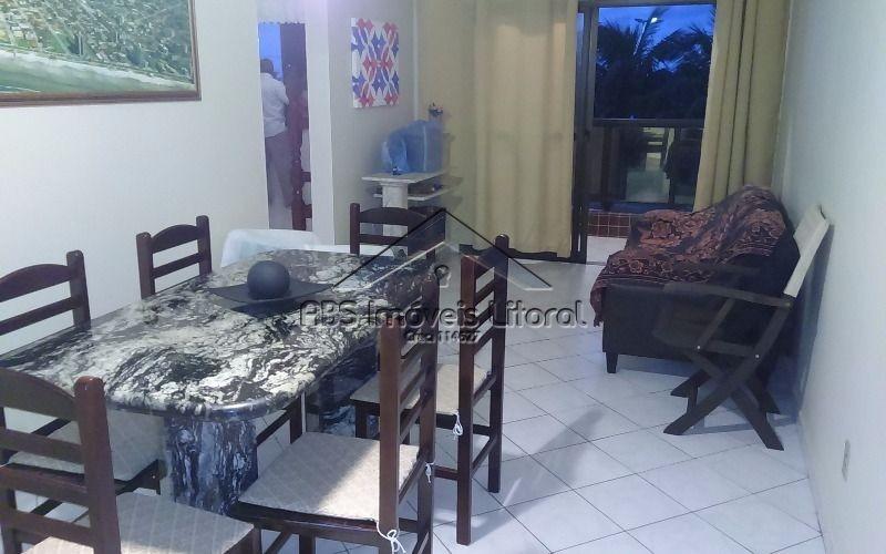 apartamento de 2 dormitórios de frente ao mar mobiliado ap962
