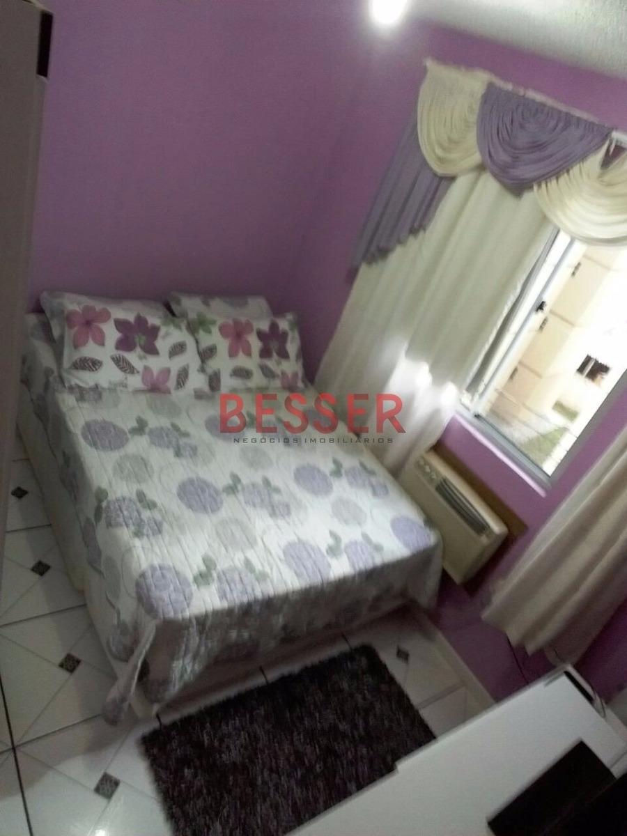 apartamento de 2 dormitorios em sapucaia - v-405